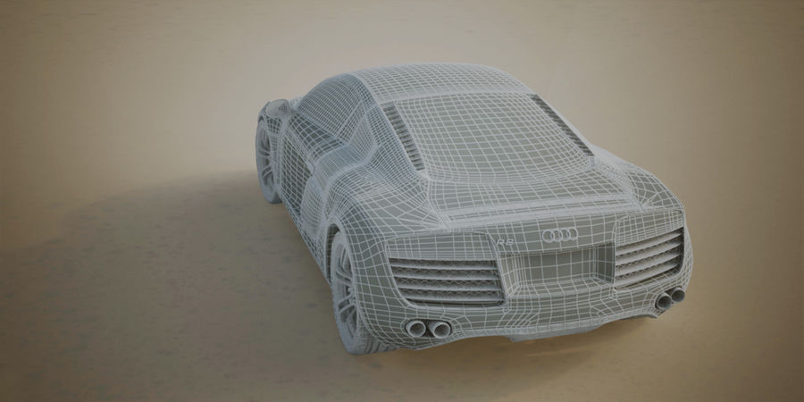 Audi R8 V10 royalty-free 3d model - Preview no. 14
