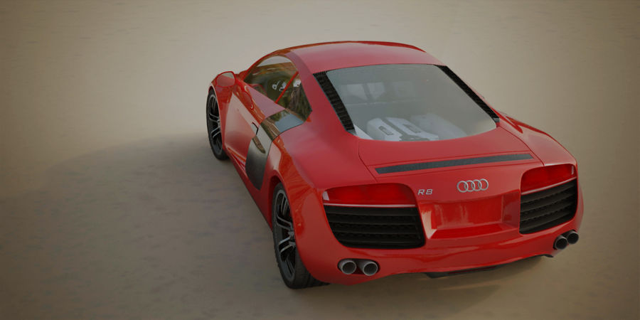 Audi R8 V10 royalty-free 3d model - Preview no. 10
