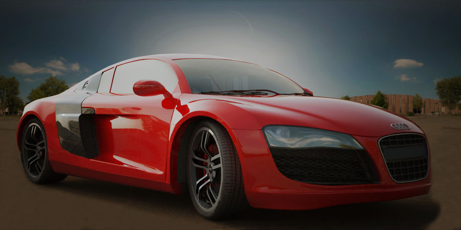 Audi R8 V10 royalty-free 3d model - Preview no. 1