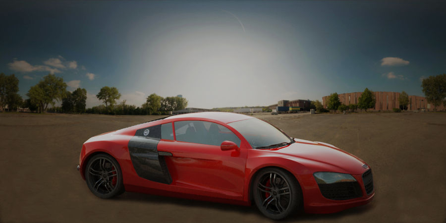 Audi R8 V10 royalty-free 3d model - Preview no. 9
