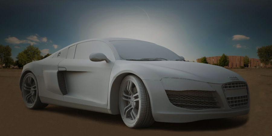 Audi R8 V10 royalty-free 3d model - Preview no. 11