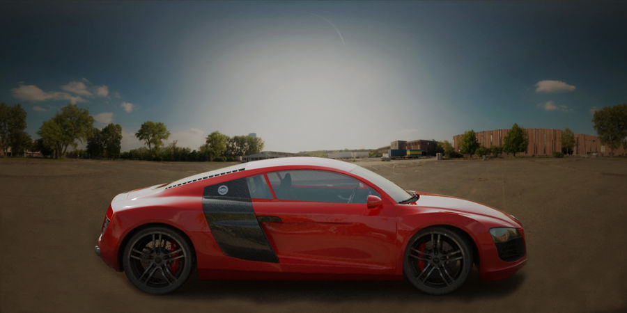 Audi R8 V10 royalty-free 3d model - Preview no. 8
