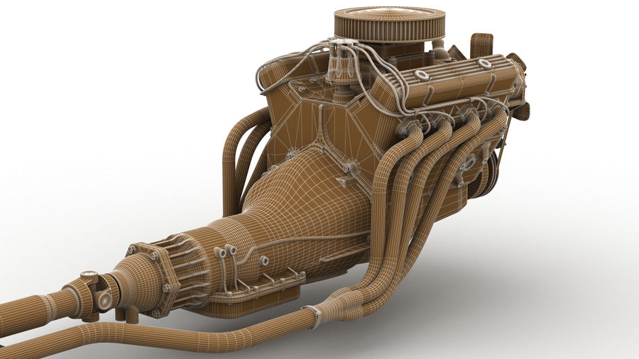 Car Engine royalty-free 3d model - Preview no. 4