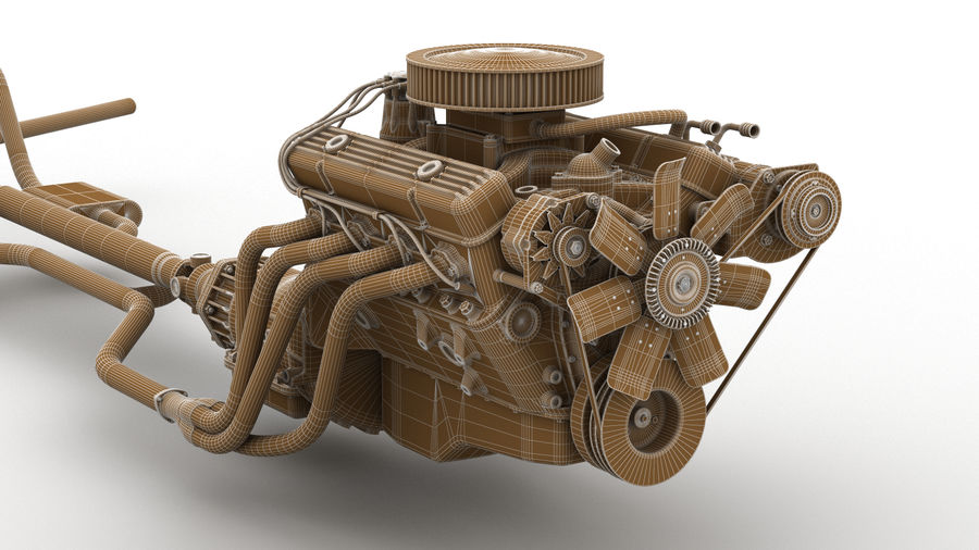 Car Engine royalty-free 3d model - Preview no. 2