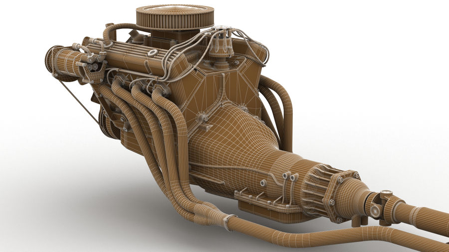Car Engine royalty-free 3d model - Preview no. 8