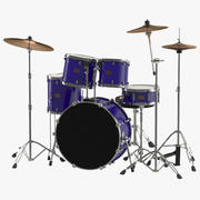 Drum Kit Generic 3D Model 3d model