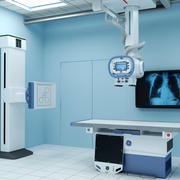 X-ray Room with Optima XR646 3d model