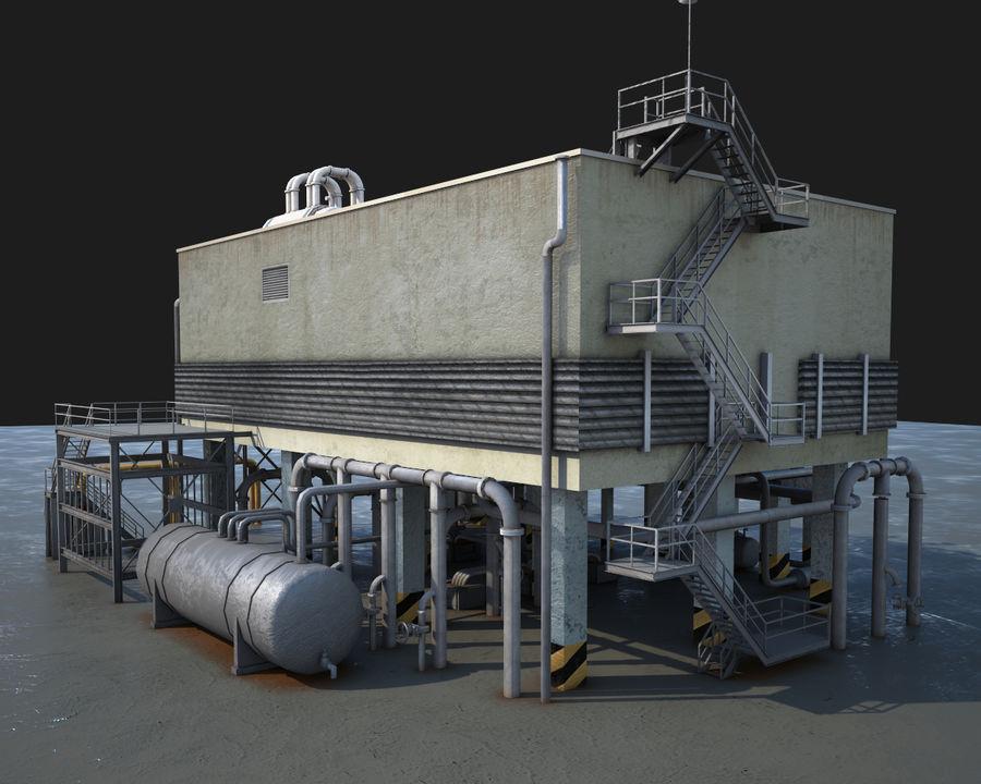 Mega-Raffinerie royalty-free 3d model - Preview no. 7