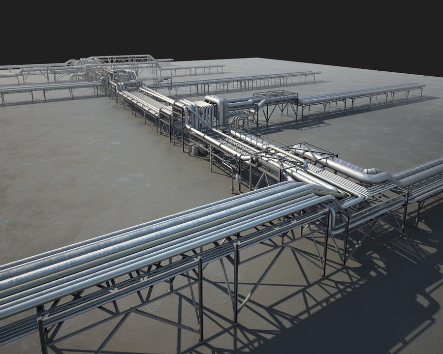 Mega-Raffinerie royalty-free 3d model - Preview no. 5