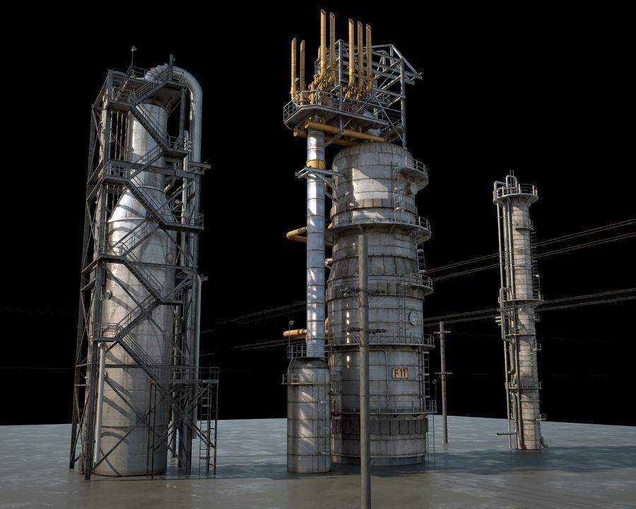 Mega-Raffinerie royalty-free 3d model - Preview no. 9