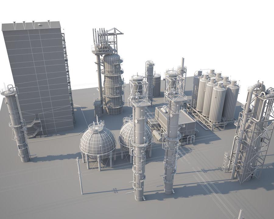 Mega-Raffinerie royalty-free 3d model - Preview no. 13