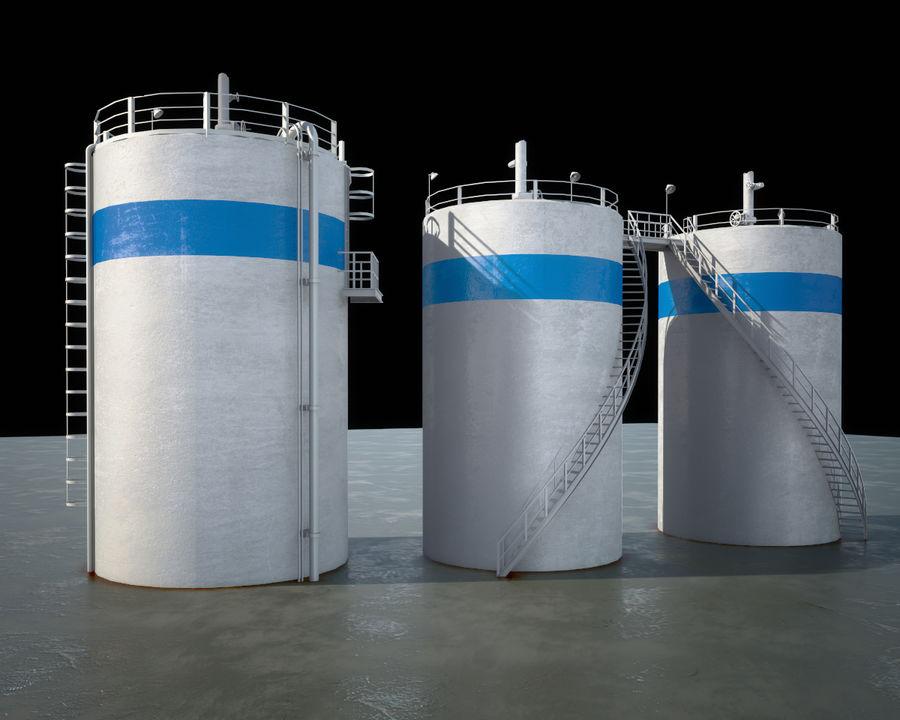 Mega-Raffinerie royalty-free 3d model - Preview no. 10