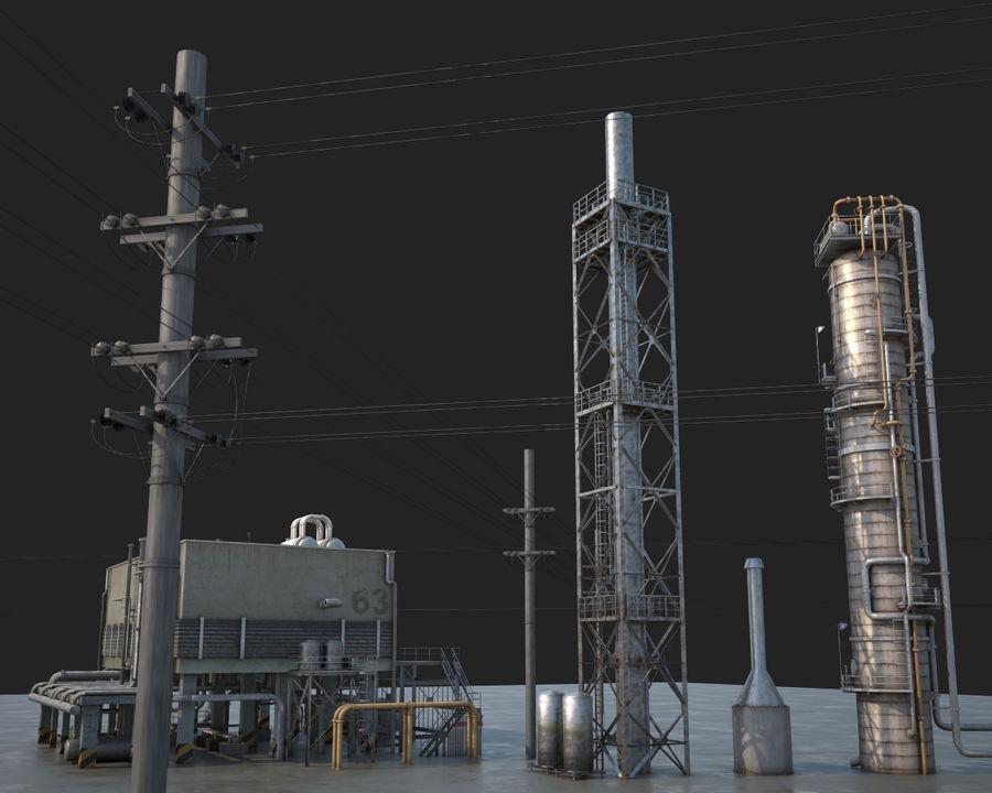 Mega-Raffinerie royalty-free 3d model - Preview no. 11
