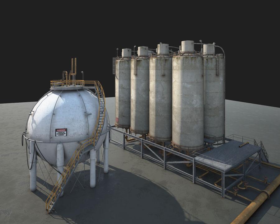 Mega-Raffinerie royalty-free 3d model - Preview no. 6