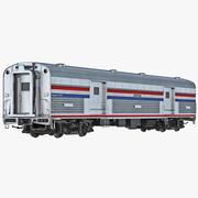 Railroad Amtrak Baggage Car 2 3d model