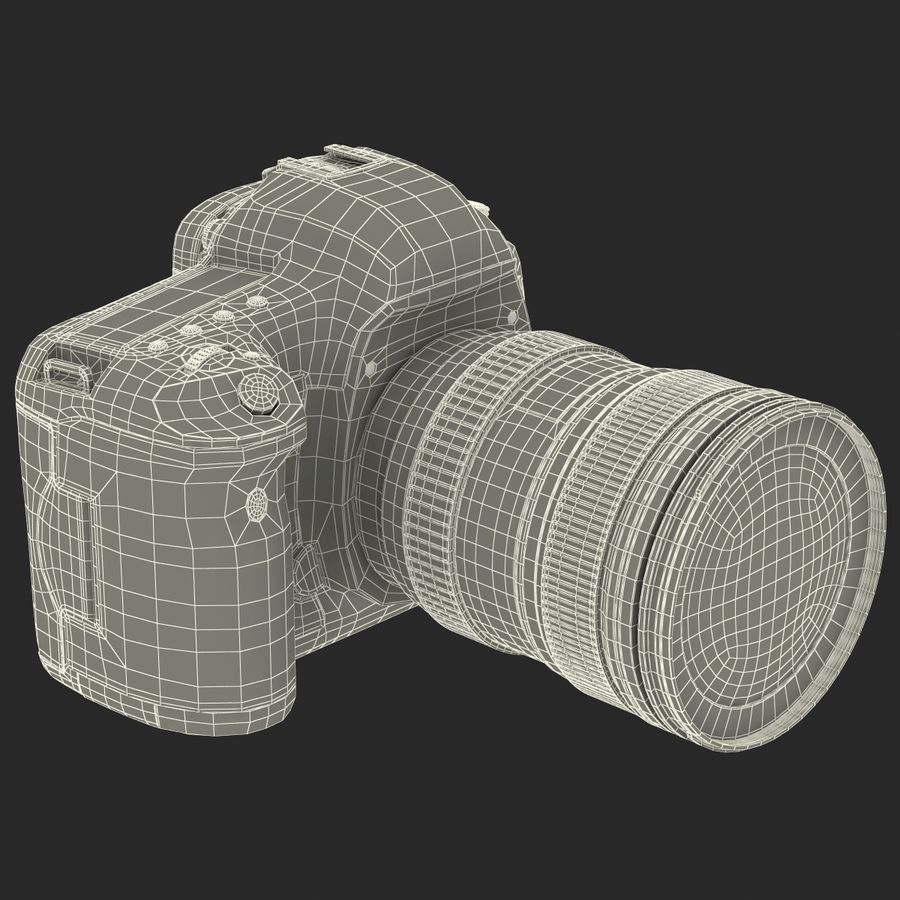 数码相机单反通用 royalty-free 3d model - Preview no. 46