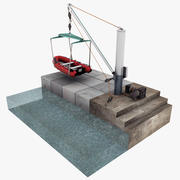 Boat Lifting Crane 3d model