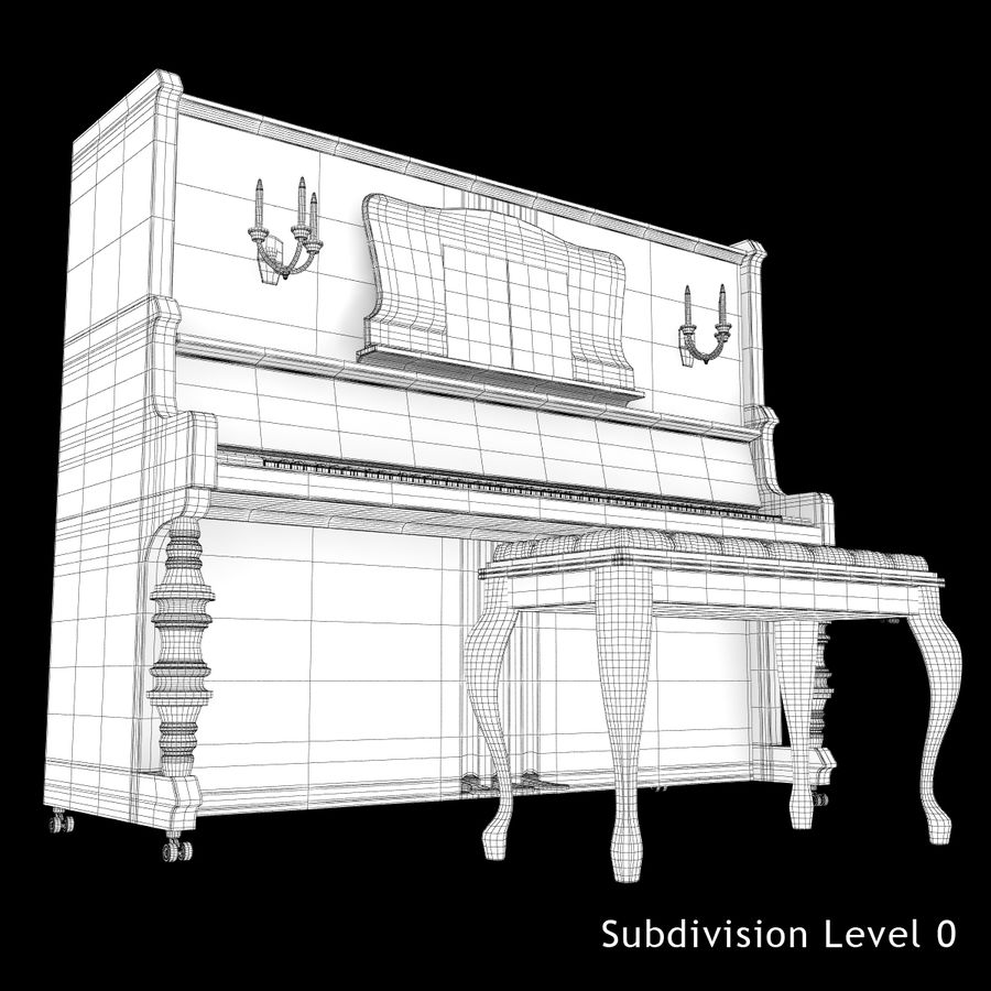 Fortepian royalty-free 3d model - Preview no. 17