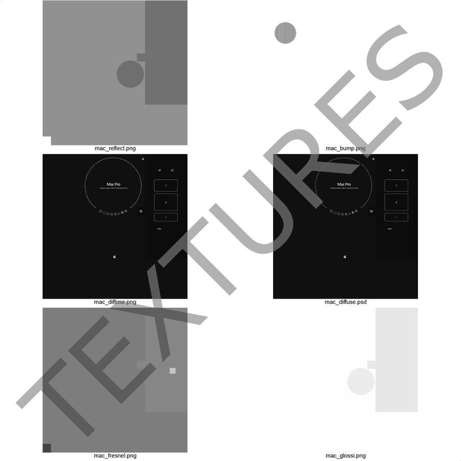 애플 맥 프로 컬렉션 royalty-free 3d model - Preview no. 50