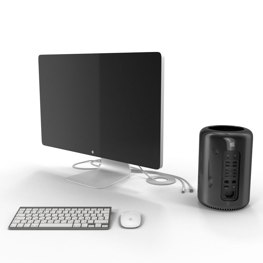 Apple Mac Pro Collection royalty-free 3d model - Preview no. 9