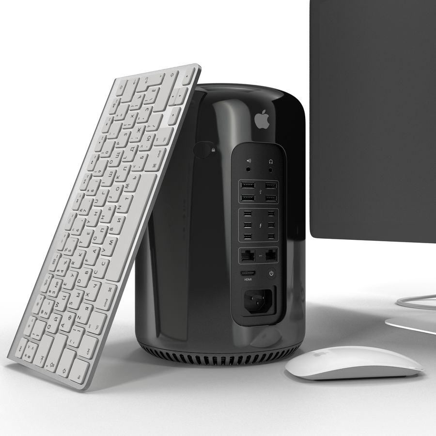 Apple Mac Pro Collection royalty-free 3d model - Preview no. 11