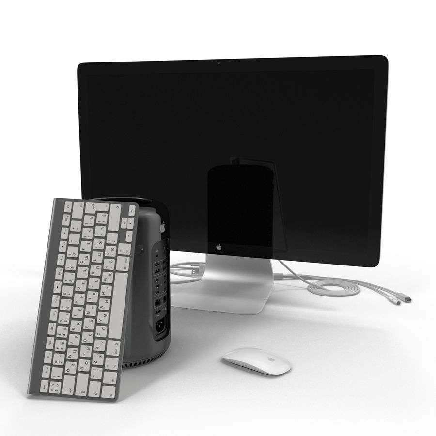 Apple Mac Pro Collection royalty-free 3d model - Preview no. 6
