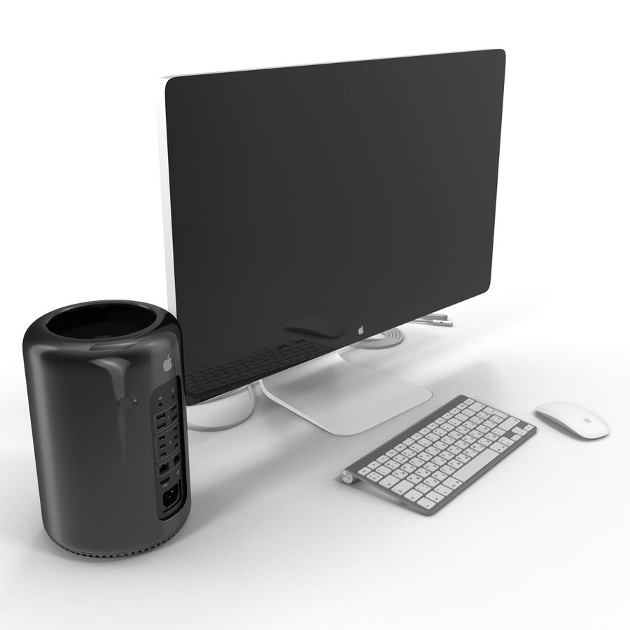 Apple Mac Pro Collection royalty-free 3d model - Preview no. 3