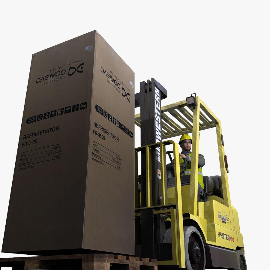Forklift sürücüsü royalty-free 3d model - Preview no. 6