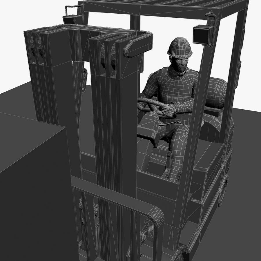 Forklift sürücüsü royalty-free 3d model - Preview no. 8