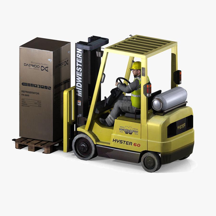 Forklift sürücüsü royalty-free 3d model - Preview no. 4