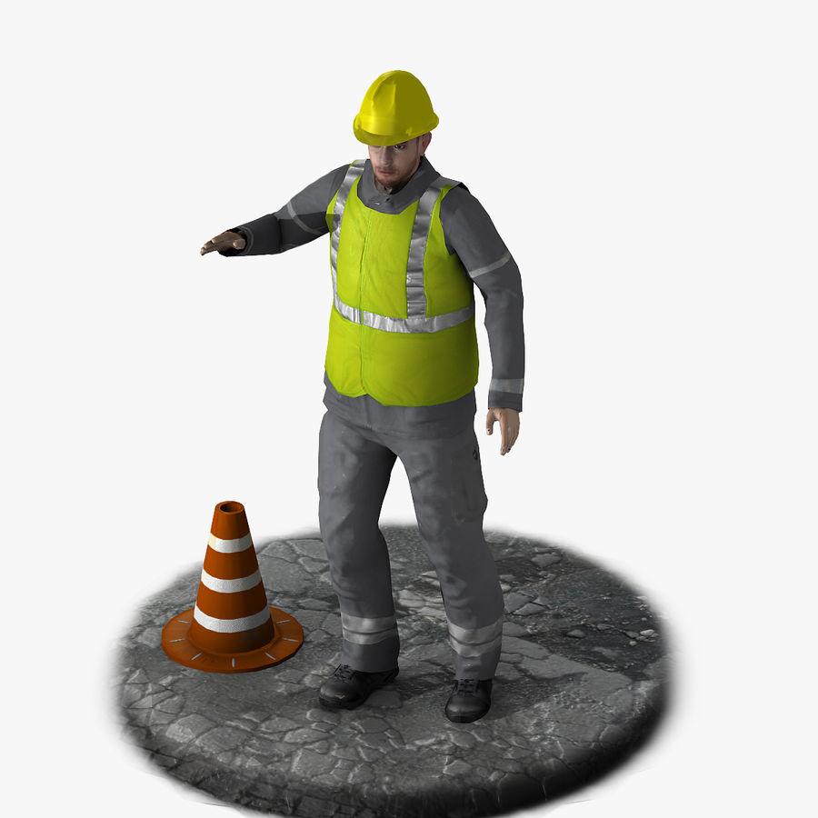 Forklift sürücüsü royalty-free 3d model - Preview no. 11