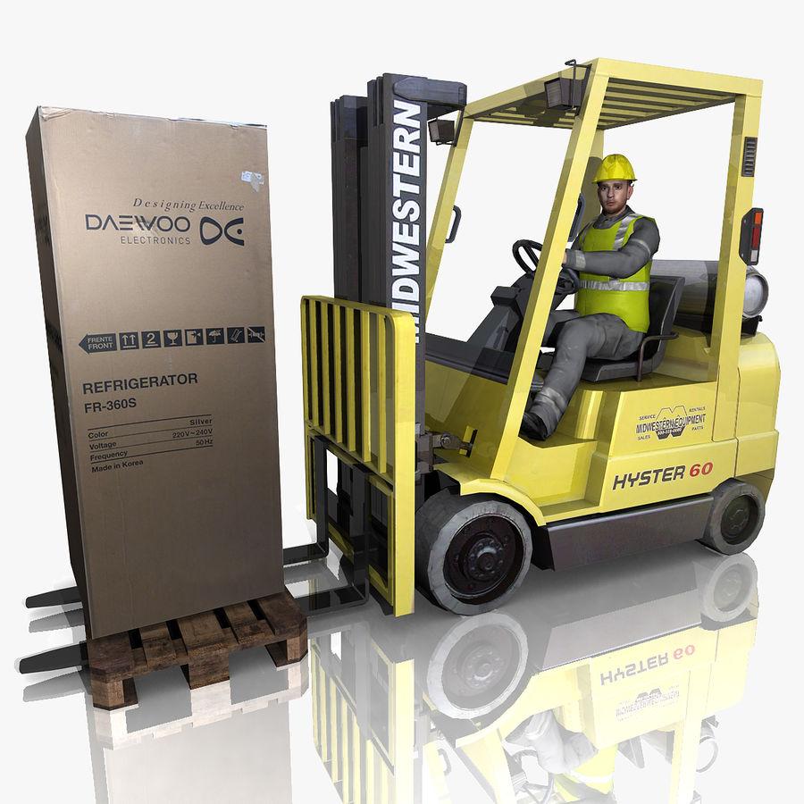 Forklift sürücüsü royalty-free 3d model - Preview no. 1