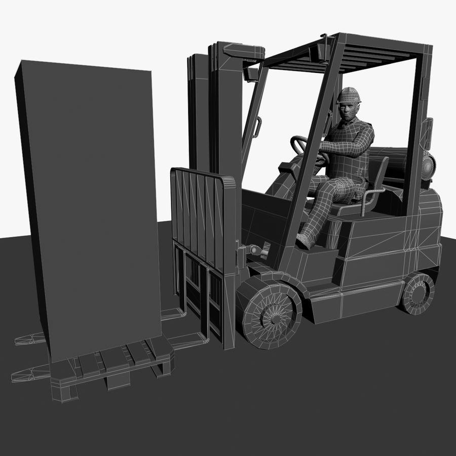 Forklift sürücüsü royalty-free 3d model - Preview no. 7