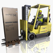 Forklift sürücüsü 3d model