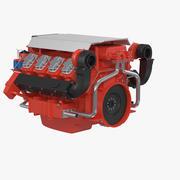 Marine V8 Motor 3d model