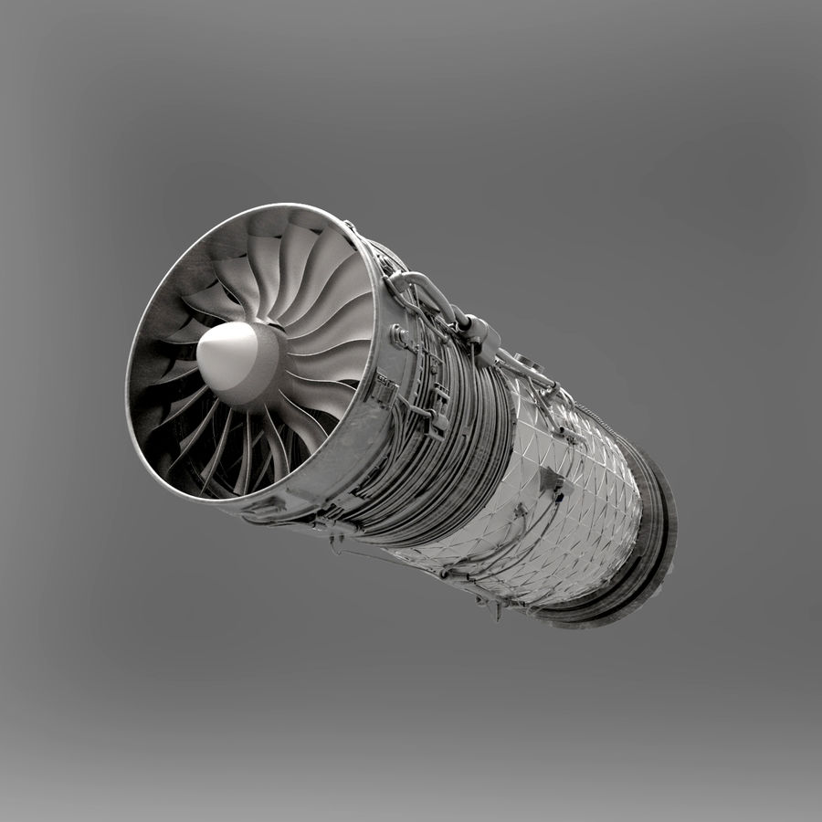 Engine Supersonic aircraft royalty-free 3d model - Preview no. 9