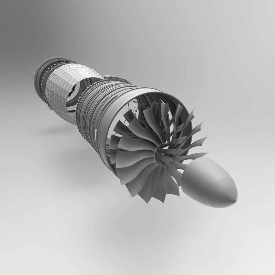 Engine Supersonic aircraft royalty-free 3d model - Preview no. 12