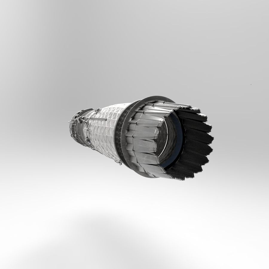 Engine Supersonic aircraft royalty-free 3d model - Preview no. 5