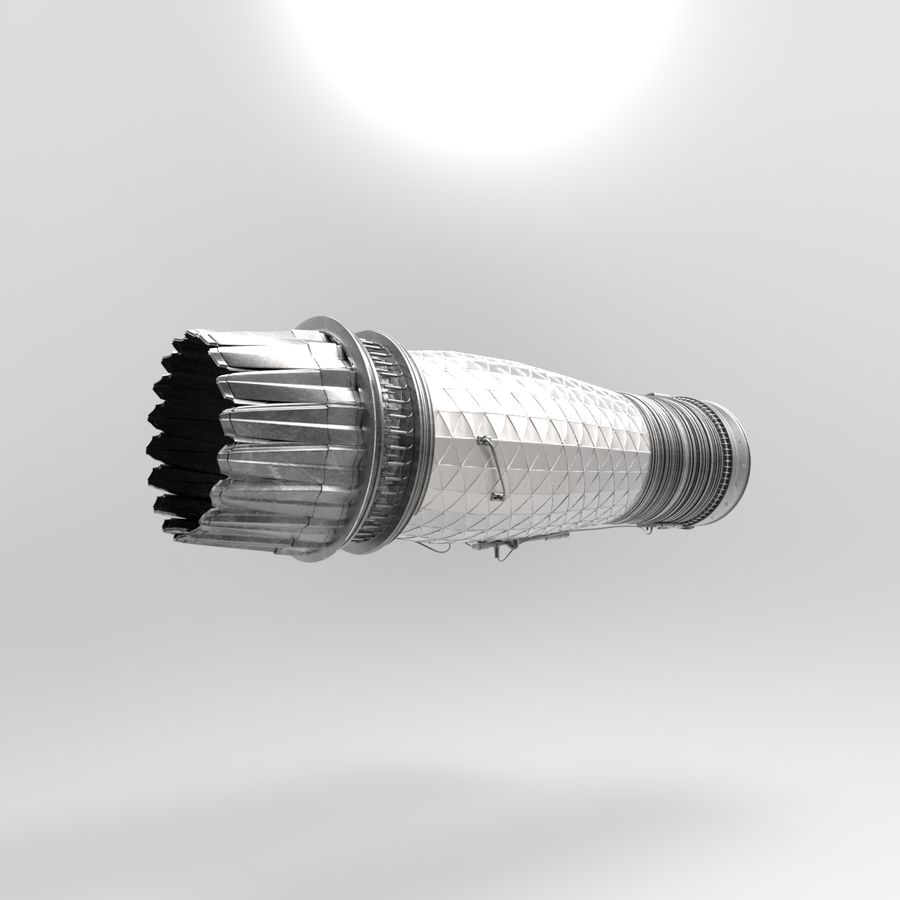 Engine Supersonic aircraft royalty-free 3d model - Preview no. 6