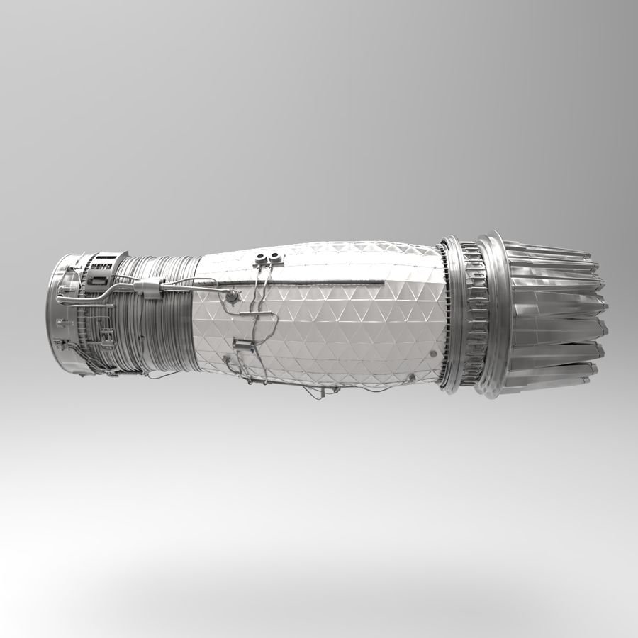 Engine Supersonic aircraft royalty-free 3d model - Preview no. 4