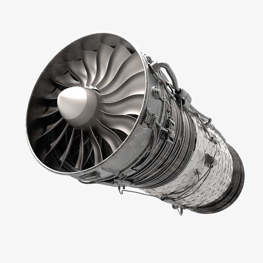 Engine Supersonic aircraft royalty-free 3d model - Preview no. 1