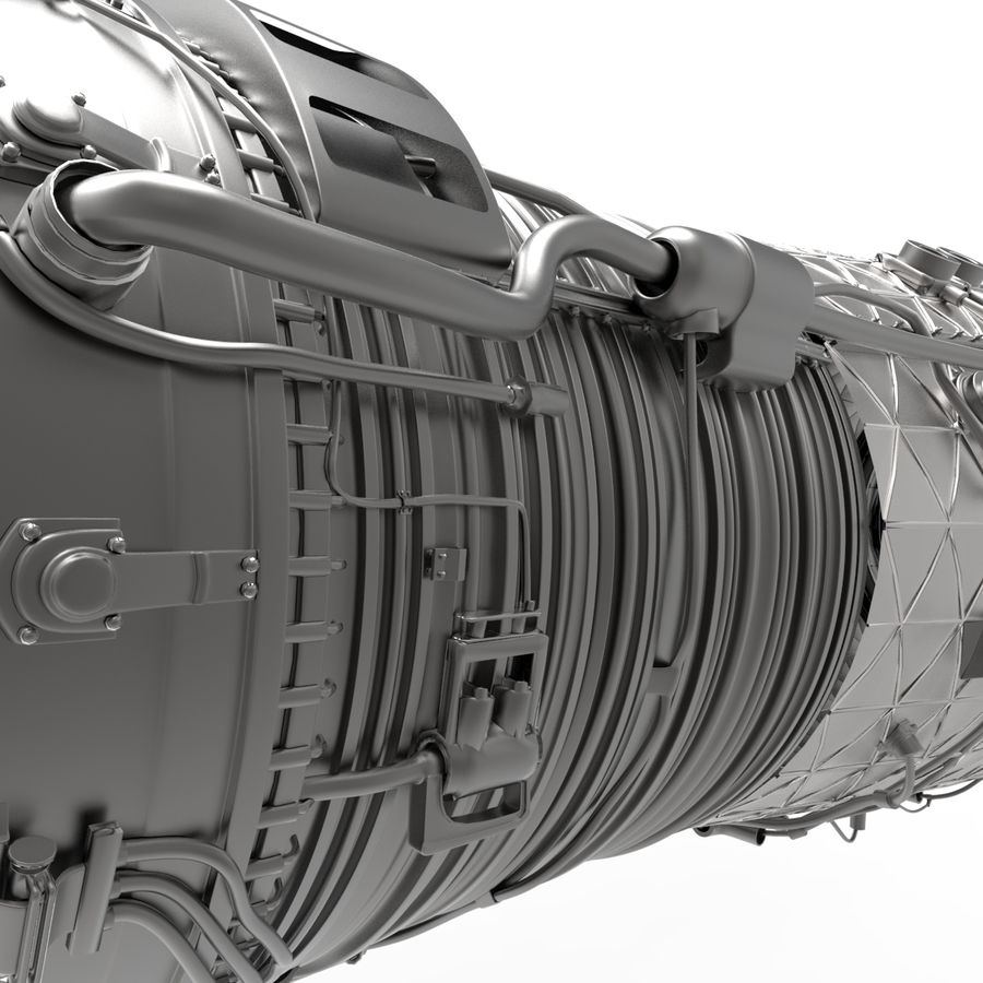 Engine Supersonic aircraft royalty-free 3d model - Preview no. 10