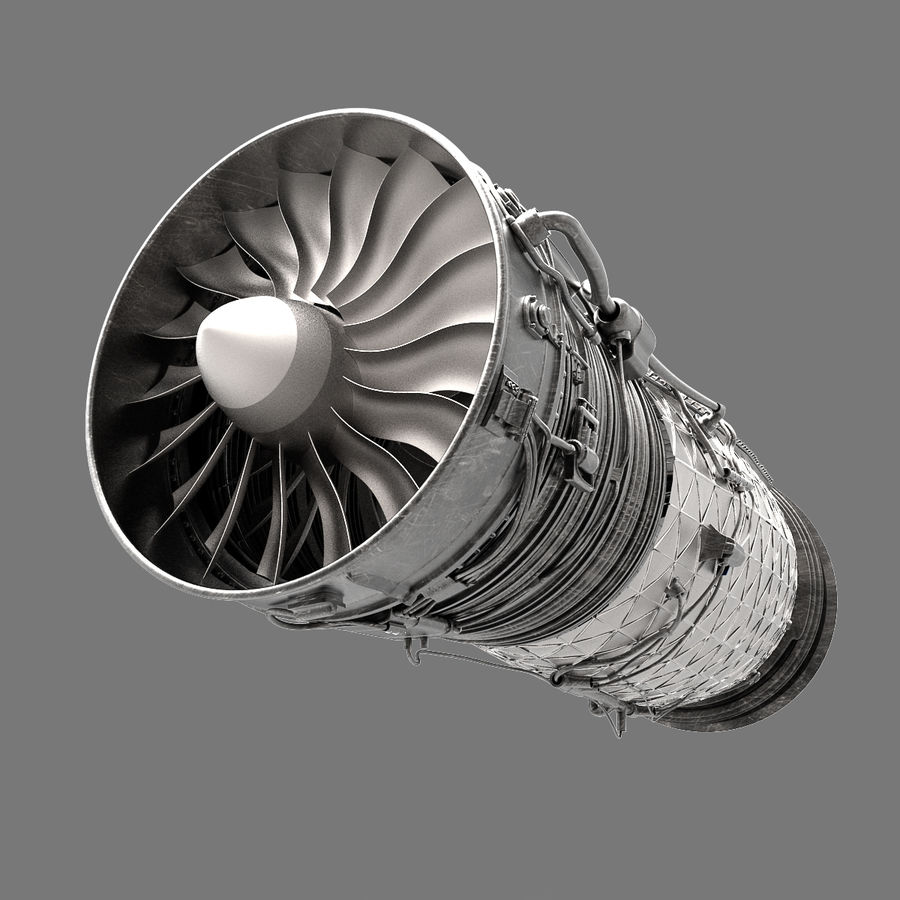 Engine Supersonic aircraft royalty-free 3d model - Preview no. 2
