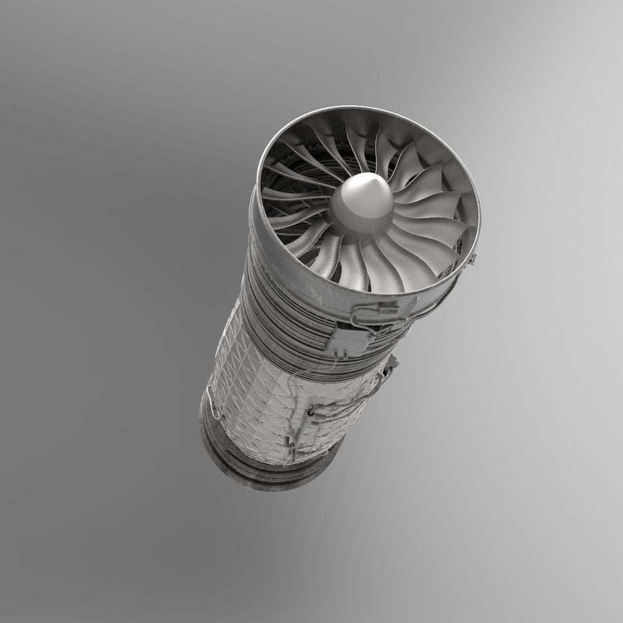 Engine Supersonic aircraft royalty-free 3d model - Preview no. 8