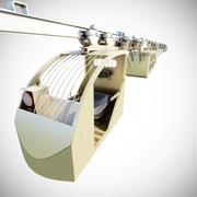 suspendierte Eisenbahnen Bergbautransport 3d model
