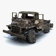 Ural-375 Chassis Burnt 3d model