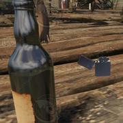 CryEngine Molotov + Lighter 3d model