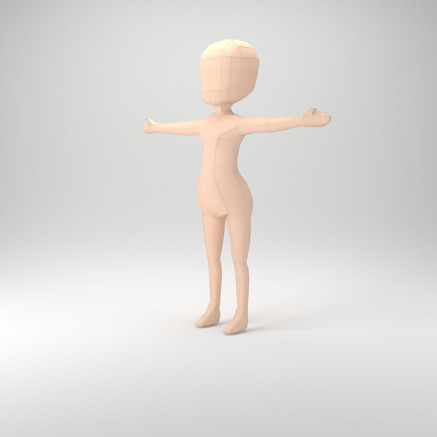 Malla Base Chibi royalty-free modelo 3d - Preview no. 2