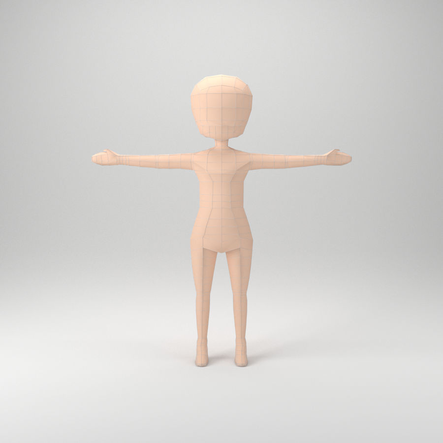 Malla Base Chibi royalty-free modelo 3d - Preview no. 1