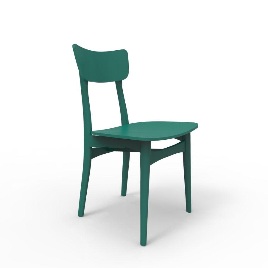 식사 의자 royalty-free 3d model - Preview no. 1